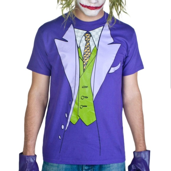 beauty special for shoe durable modeling Official Joker Batman Tuxedo T-Shirt NWT